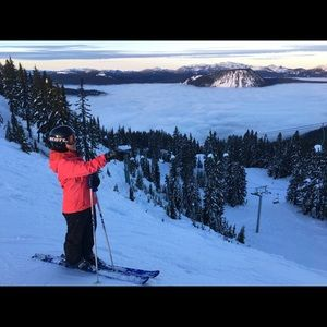 North Face pink ski/snowboard jacket